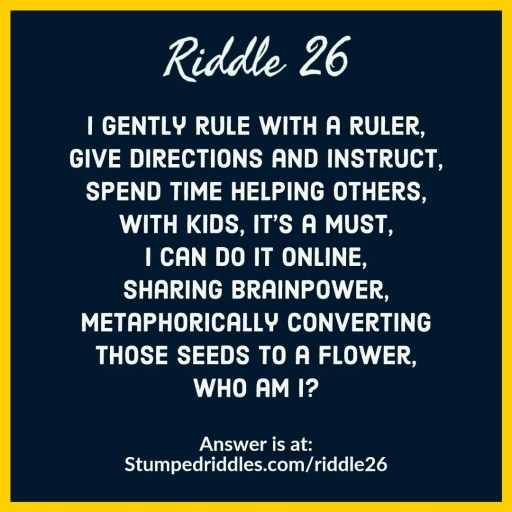 Answer to a riddle about the givers