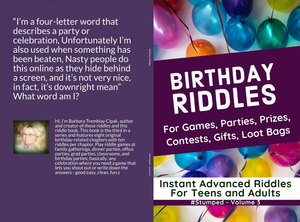 Birthday Riddles - #Stumped Volume 3 - Original riddles related to birthdays