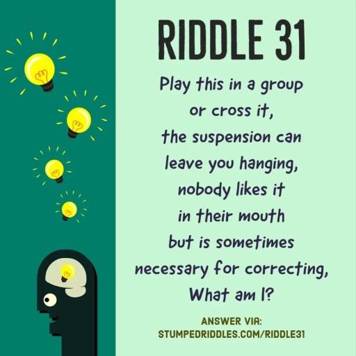 Riddle 31 on StumpedRiddles