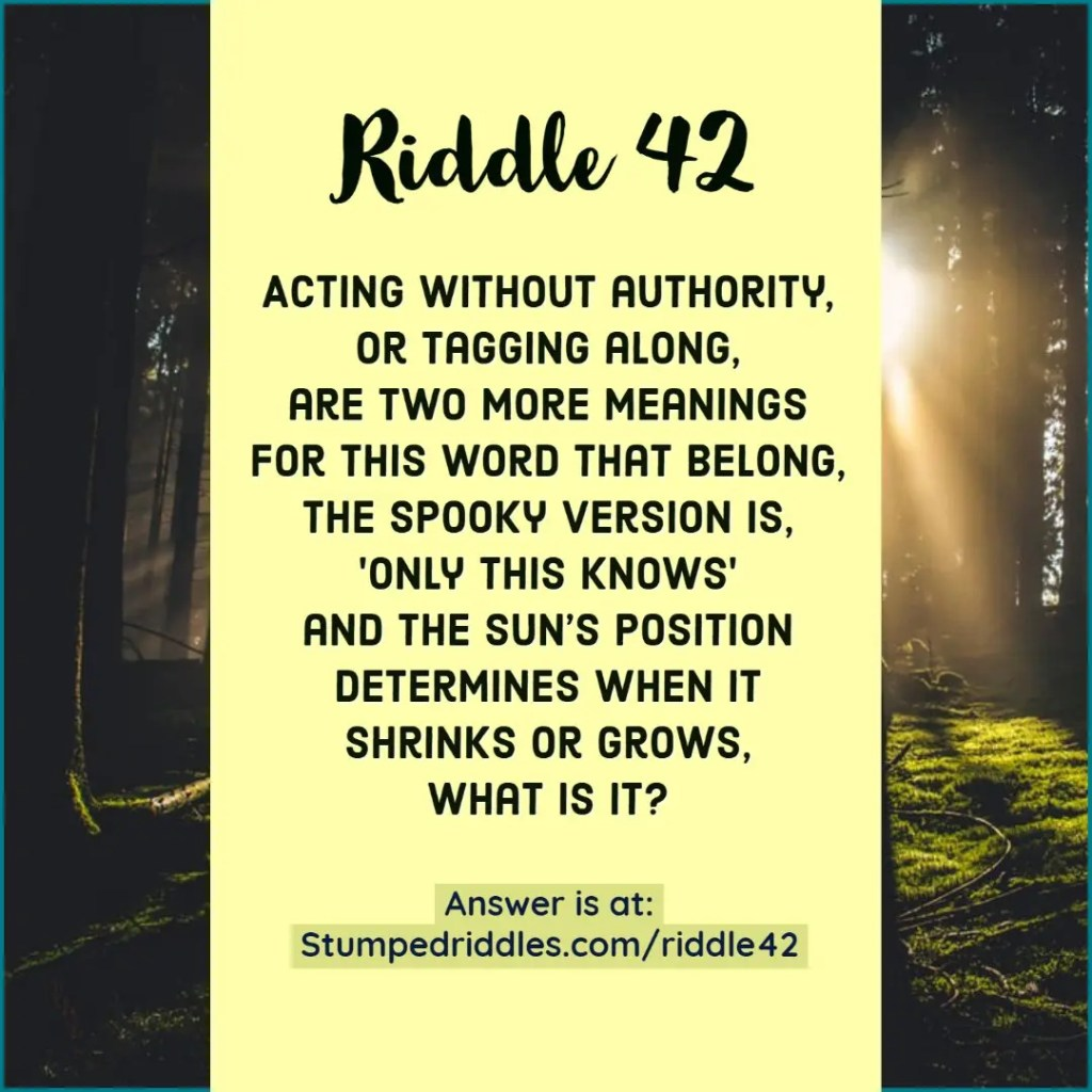 Answer to Riddle 42