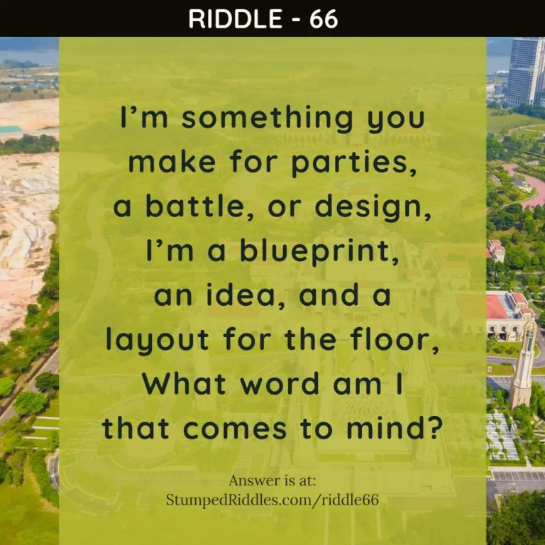 Riddle 66 on StumpedRiddles