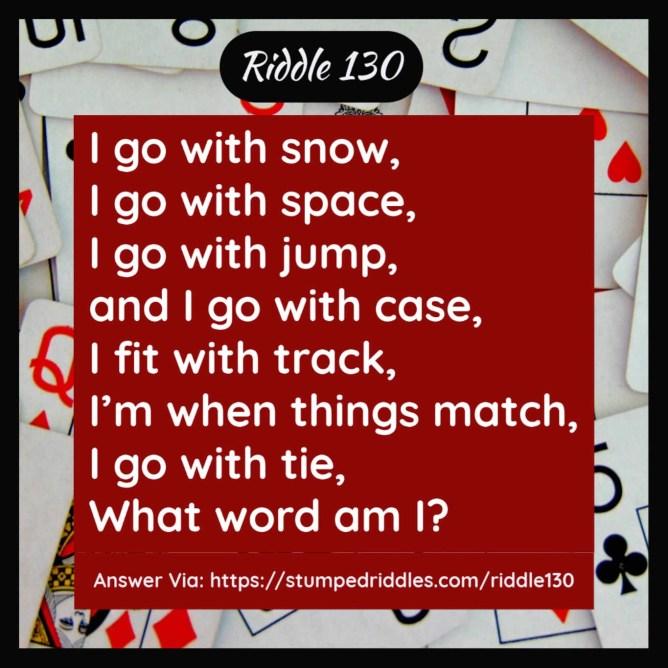 Riddle 130 on StumpedRiddles