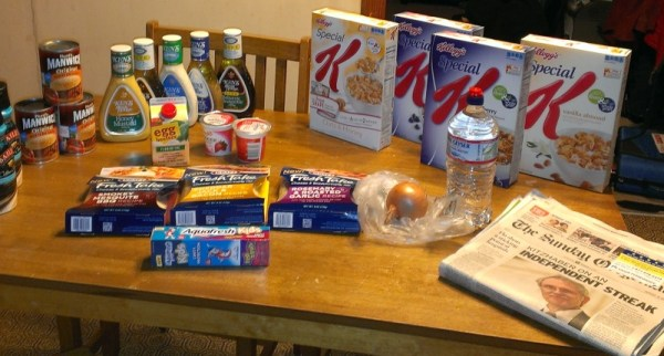 Grocerties from Albertsons Shopping Trip - Jan. 14, 2013