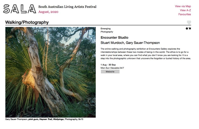 screengrab from the exhibtion organsied by Gary Sauer-Thompson