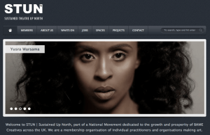 STUN website homepage