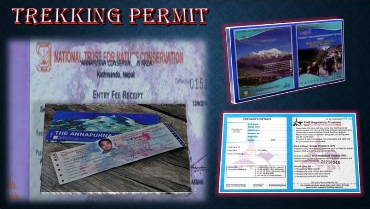 Annapurna trekking permit