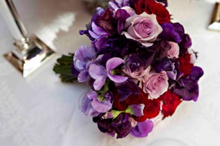 Purple-and-Red-wedding-flower