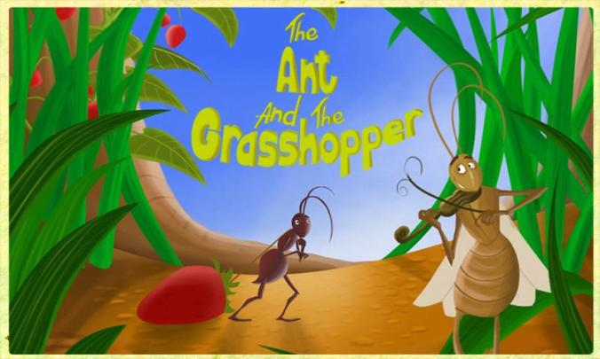 "Image result for ""THE ANT AND THE GRASSHOPPER"""