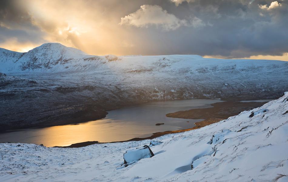 assynt scotland winter