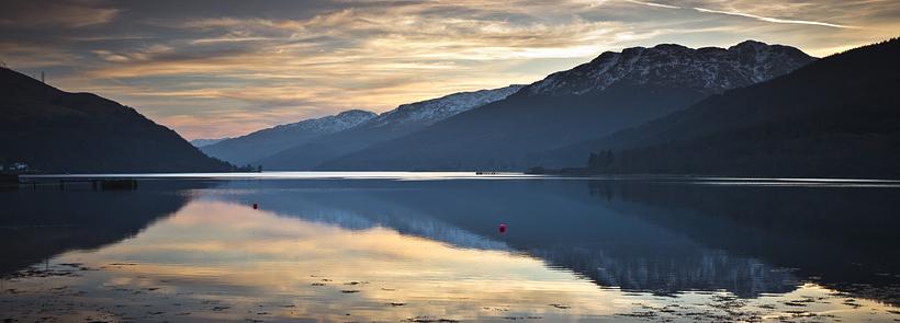 sunset at Loch Long