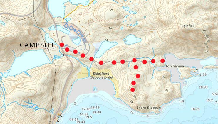 torvhamna hike map