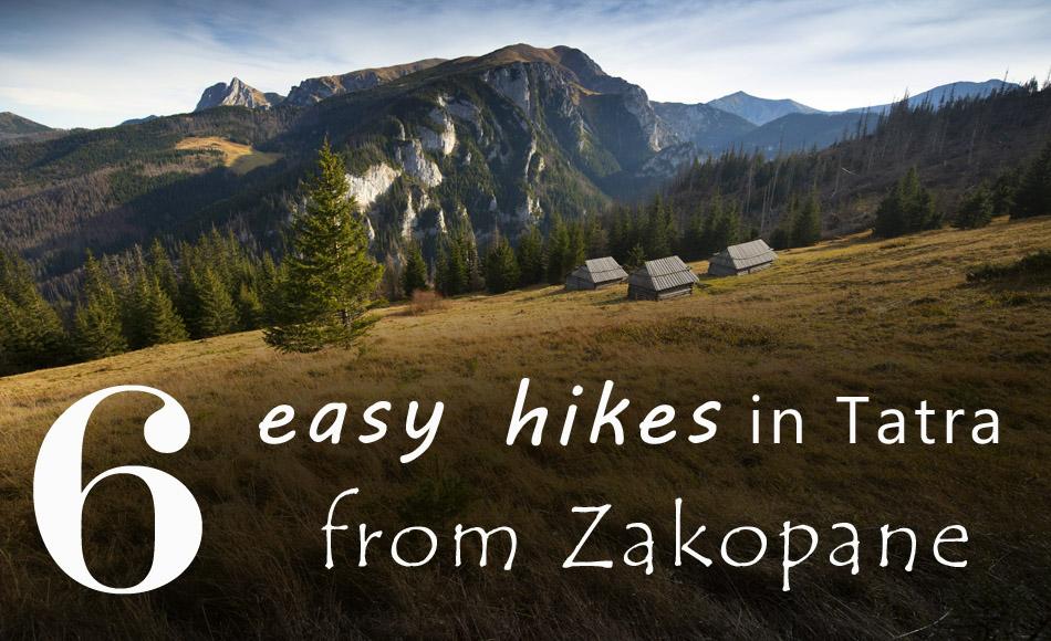 easy hikes from zakopane
