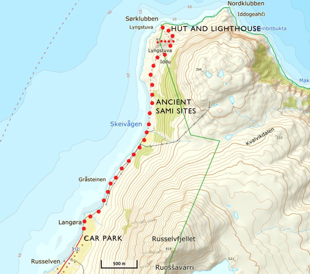 lyngstuva hike map