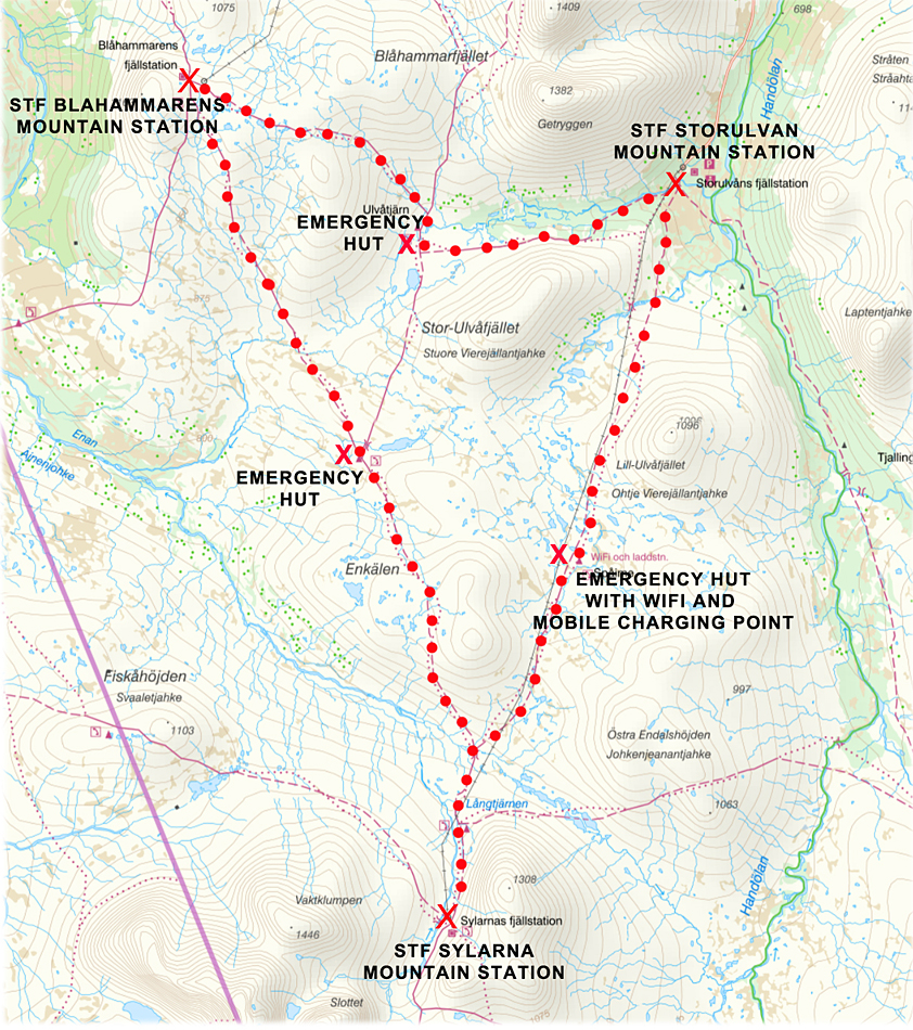Jämtland Triangle map