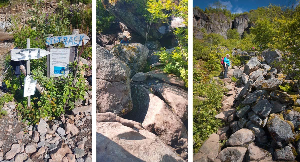Hiking trail to Floya Lofoten