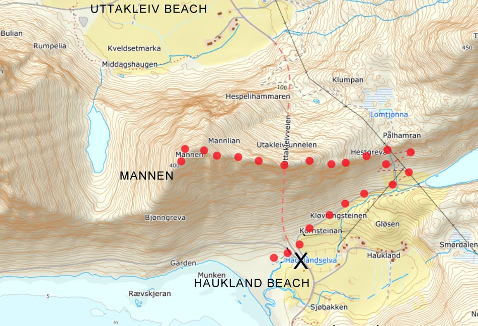 mannen lofoten map