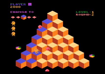 I looked up just ridiculous and a picture of Qbert popped up. From atariage.com