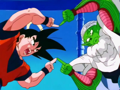Goku & Piccolo Fusion in Dragonball Z saved from fanpop.com
