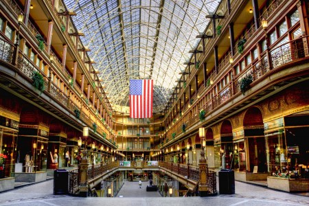 The Cleveland Arcade designed by John Eisenmann in 1890. Saved from clevelandphotos.net