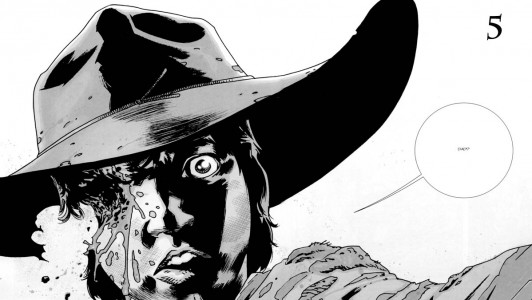 Carl from the graphic novel of The Walking Dead. Saved from bloody-disgusting.com