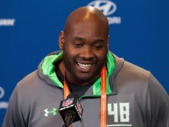 Laremy Tunsil of Ole' Miss. Saved from usatoday.com. Photo by Trevor Ruszkowski/USA Today Sports.