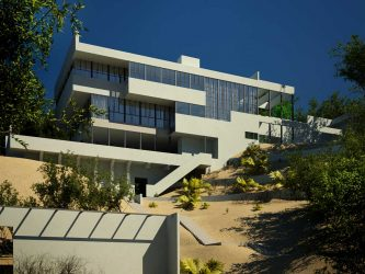 The Lovell House designed by Richard Neutra in LA. Saved from Evermotion.org with no photo credit.