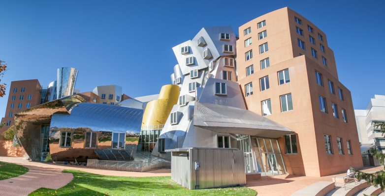 The Stata Building on the campus of MIT in Boston. Designed by Frank Gehry. Photo credit to csail.mit.edu.