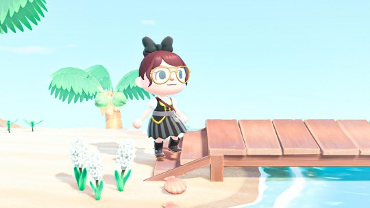 My Animal Crossing villager dressed like a pirate.