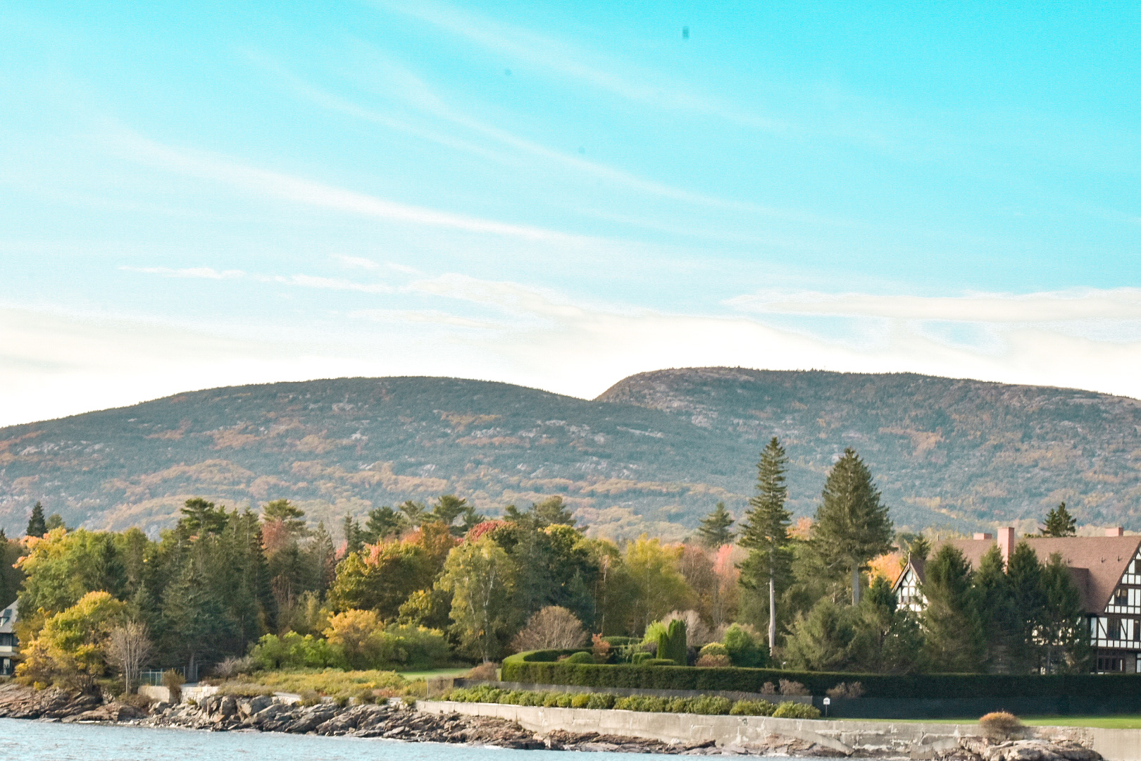 A shot of the mountain and fall foliage on MDI.