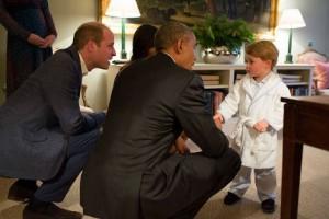 Le président rencontre la famille royale d'Angleterre