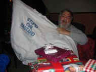 I never seen anyone more happy to get an SEB t-shirt. Christmas 2004.