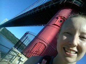 Little red lighthouse under the George Washington Bridge.