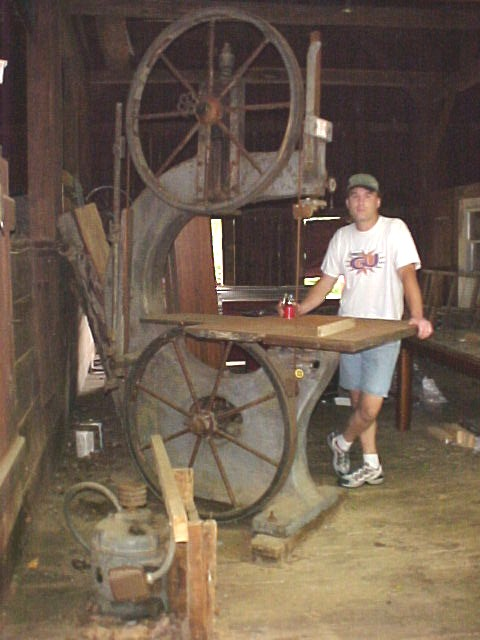 Old 1890's Cast Iron Bandsaw