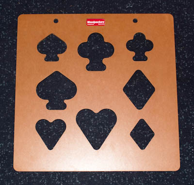 Poker Inlay Template