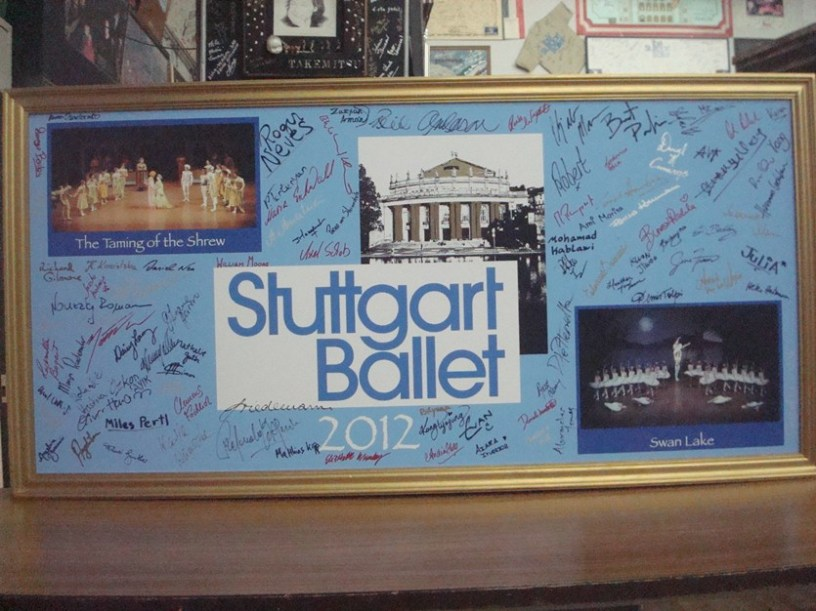 Our new tour-board will be added to the ones of the Stuttgart Ballet that we've left before at the Bunka Kaikan theatre