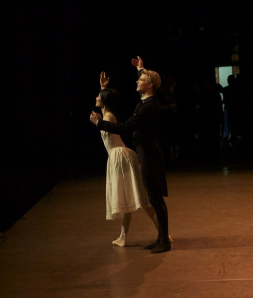 """Bowing after their performance of """"The Lady of the Camellias"""" in Seoul: Sue Jin Kang and Marijn Rademaker"""