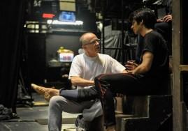 Massage therapist Richard Gilmore treats dancer Constantine Allen