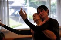 Miriam Kacerova and Alexander Jones in rehearsal of the final pas de deux of Onegin