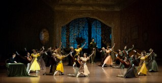 First performance: second act of Onegin - entrance of Prince Gremin