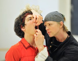 Ludovico Pace and Marijn Rademaker rehearsing for Krabat