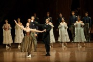 Anna Osadcenko, Jason Reilly at the final curtain in front of a cheering audience in Singapore