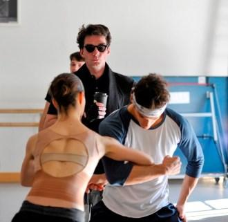 Chantal-Julie Fink, Daniel Camargo and Marco Goecke