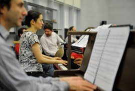 Our pianists are also in the orchestra rehearsals