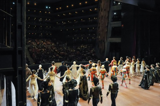 The whole company takes a bow after the second Romeo and Juliet performance.