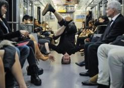 Alexander McGowan in the Tokyo Subway