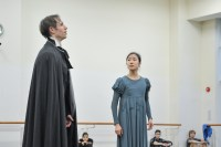Roman Novitzky rehearses for his debut as Onegin, with Hyo-Jung Kang as Tatjana