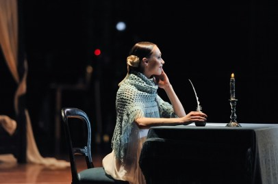 Writing the famous letter to Onegin: Anna Osadcenko as Tatiana