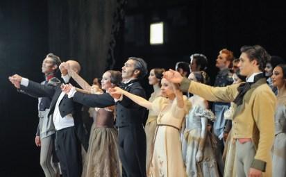 The bows: Robert Robinson, conductor James Tuggle, Anna Osadcenko, Jason Reilly, Elisa Badenes, Daniel Camargo