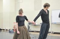 Onegin rehearsal in the studio: Elisa Badenes and Friedemann Vogel