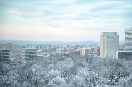 A view over the Sapporo winter wonderland